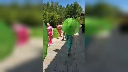 【视频】澳门轮盘赌场林业局阳光艺术团桦西湖走秀