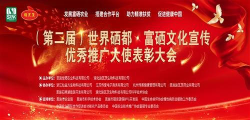 (第二屆)世界硒都·富硒文化宣傳優秀推廣大使表彰大會