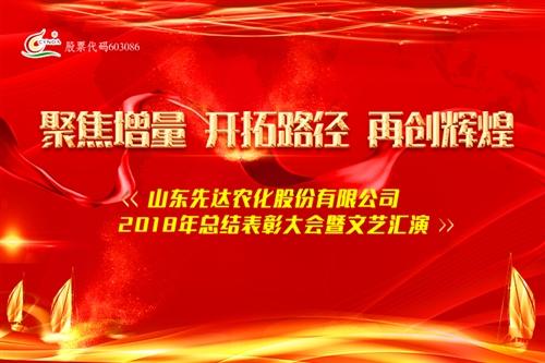 山东先达农化股份有限公司2018年总结表彰大会暨文艺演出现场直播