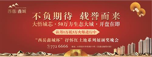 """直播 大悟""""西岳鑫城杯""""抒懷紅土地系列展頒獎晚會"""