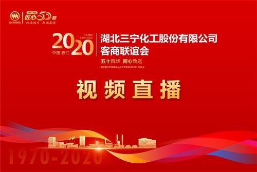 【视频直播】2020湖北三宁股份有限公司客商联谊会