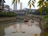 来凤挖土机怎么开到河里去了?