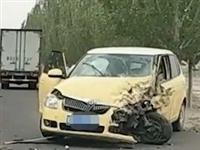 建平惠州路段一幕,两车相撞车损严重...