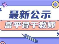 公示|富平县2021年骨干教师评选结果公示名单
