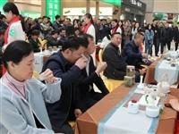 信阳茶业博览会光山茶展区现场火爆!人气爆棚