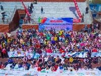 壮观!滑县新区广场惊现千米长卷,两千余人手绘