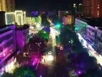 夜幕下的唐县县城……