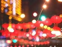 招远街头挂满了红灯笼,年味儿来了!