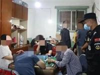 潢川县公安局中秋节前成功捣毁一校园周边赌博窝点