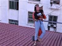 惊险!赣州一女子欲跳楼轻生,请看消防救援全过程(视频)!