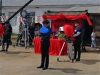 电视剧《青山不墨》剧组在铁力林业局公司试机拍摄