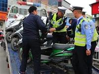 兴县:出动警力110人,8个中队,集中优势兵力整治城区交通秩序暨车辆乱停乱放违法行为!