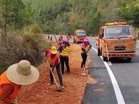 興國公路分局扎實開展路肩邊坡邊溝集中清理整治行動