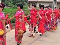 今日梅州这个村子250多名外嫁女回娘家,场面很壮观!