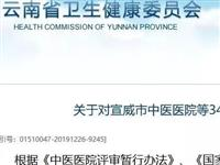 云南34家中医医院等级评审结果公布!这家不合格限期整改…