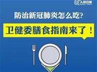 防治新冠肺炎怎么吃?膳食指南来了!