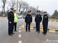 西安市交警支队马步理政委在临潼指导道路治理工作