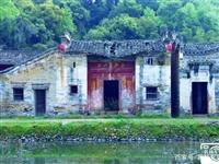 兴国县东韶古村的青砖老房