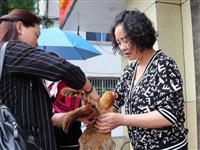 55只土鸡被抢购一空...昨天,梅山仁健食堂门口发生感人一幕!