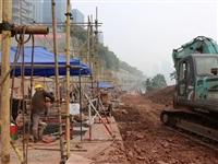 泸州春景上路堡坎正全力抢修,确保明年3月竣工通车