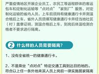 一图读懂|滨州这些人员复工不需隔离…防控知识热点答疑!
