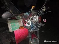 白河一男子酒驾出车祸,车头被撞碎...