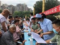 夹江广场开展健康义诊服务活动