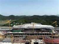 五一不打烊,安庆西站建设忙 站房混凝土、钢结构施工完成