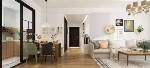 这套案例是115平的简约装修,浅色系的主色调,让家居更显温馨惬意。