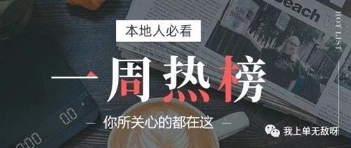 富顺一周热点回顾综合排行榜Top10(2019年第39周)