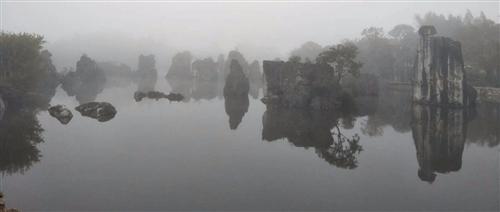 【视听石林】仙界幻境:石林湖冬雾