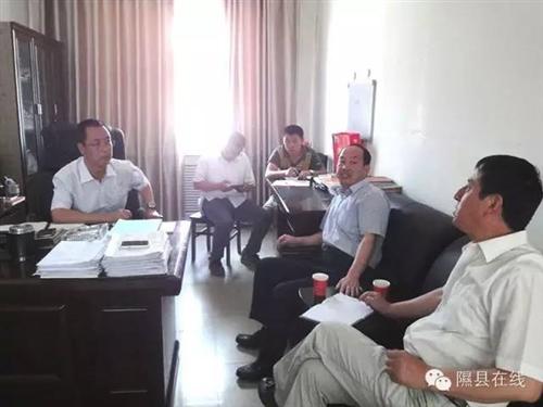 王晓斌县长在隰县玉露香质量可追溯体系管理、设制单位调研