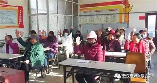 金厂沟梁镇圆满完成村级妇联换届选举工作