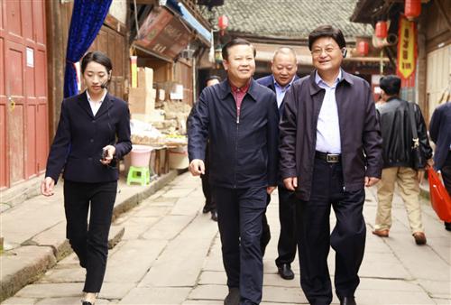 重庆市永川区政协、泸州市政协来合江考察文旅项目建设