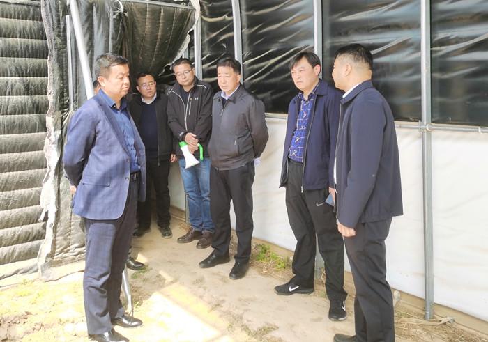府谷县副县长惠生卫到宜君县考察调研农光互补项目