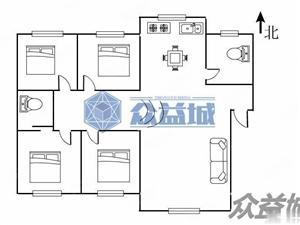 书香家园一楼带院,230平半跃层,超大户型,精装修