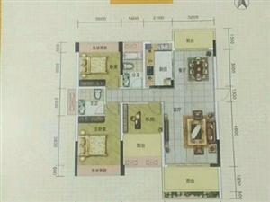 财富广场二期118.5平方3房2厅毛坯包改名110万急售