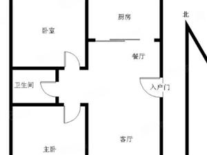 紫芳园东区南北通透两居室送车库家电家具