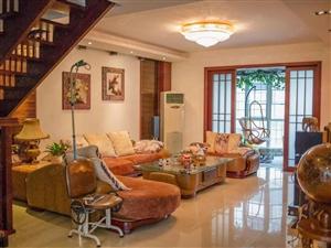 天鹅山庄3+4复式豪华装修带全套家具家电及一楼车库出售!