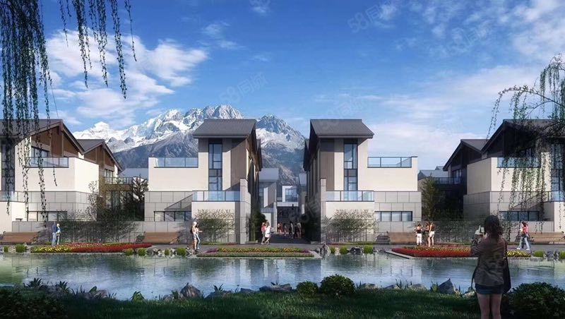 金茂谷镇2期别墅献给雪山的精美院落