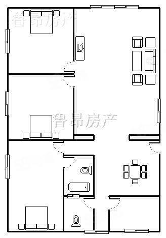 《急卖》商务区百福广场步行街中心中装三房