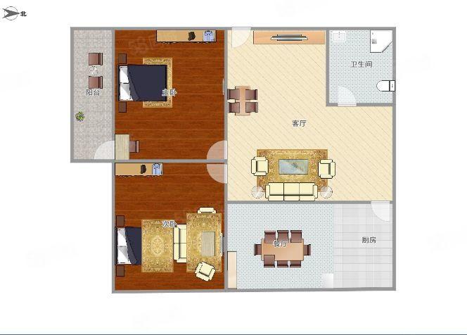彩虹小区两房583元一月楼层佳,看房方便。