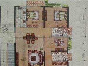 莲东厦鑫博世园高层大四房3面采光主卧带弧形大阳台