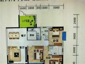 博雅蓝天中间楼层三室两厅,免指标原价出