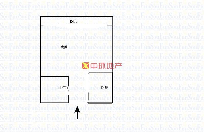 房东急售实验中学鸿运星城单身公寓精装修拎包入住