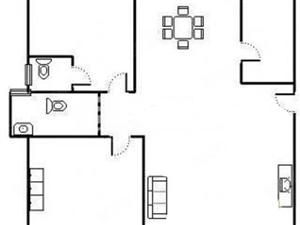 精装大2房,拎包入住,交通便利,埃着公园超市