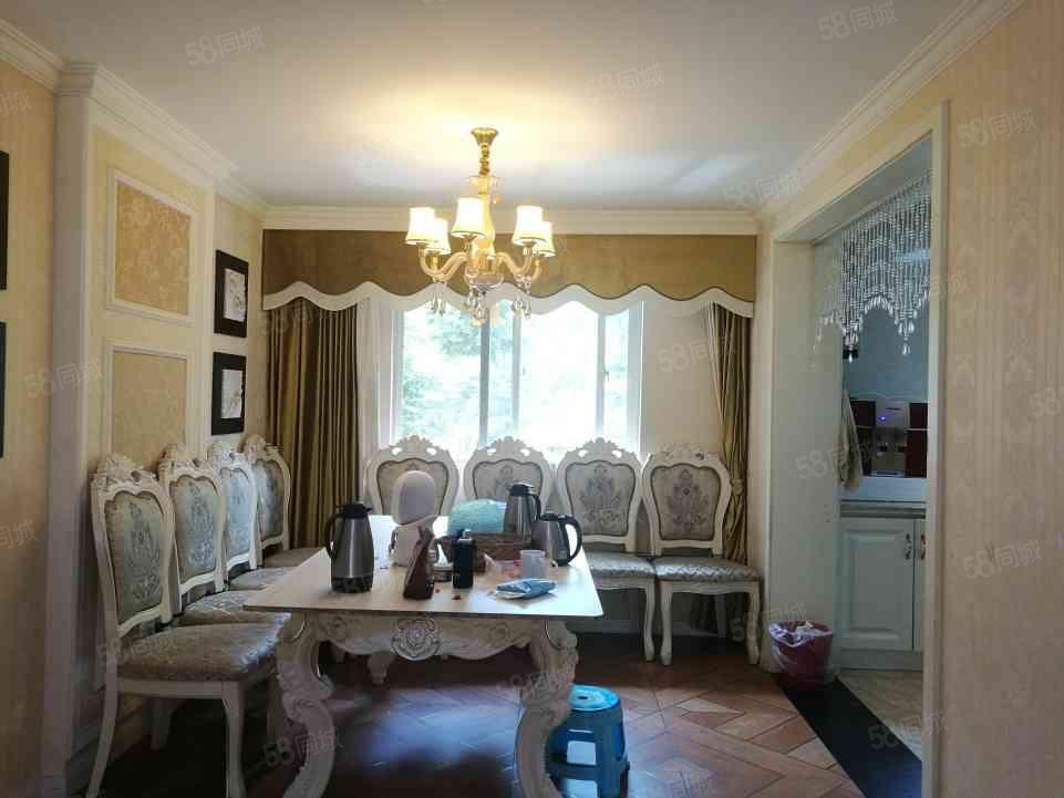 上善美都华庭前后花园客厅挑高住家精装修