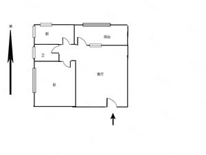 五建家属院一室一厅40平44万全明户型建二小三天必卖