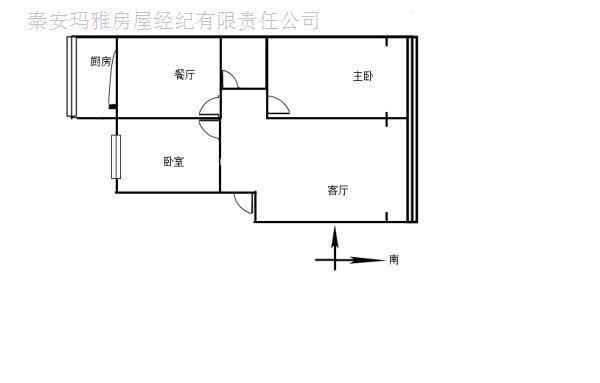 秦安成纪花园2室2厅1卫94�O