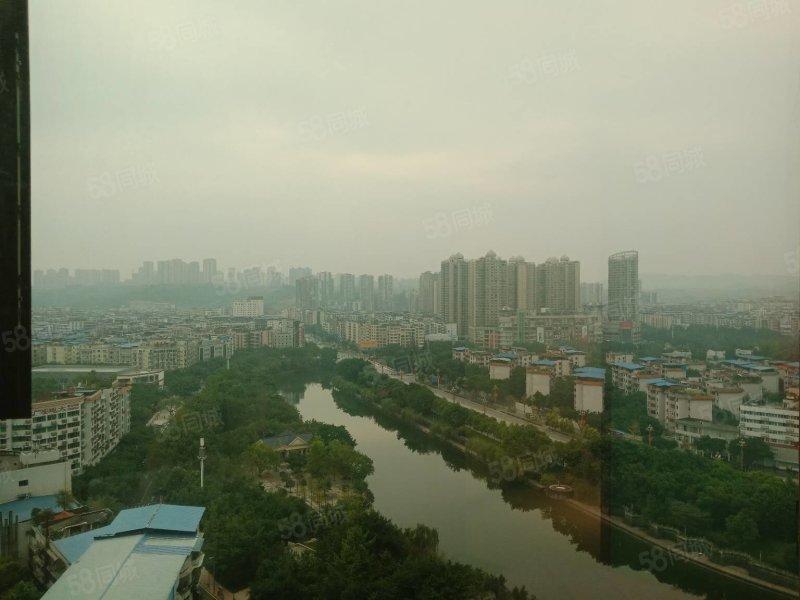 市中心,紫金上城,精装修,2室,可看河,紧凑型,大证以下,